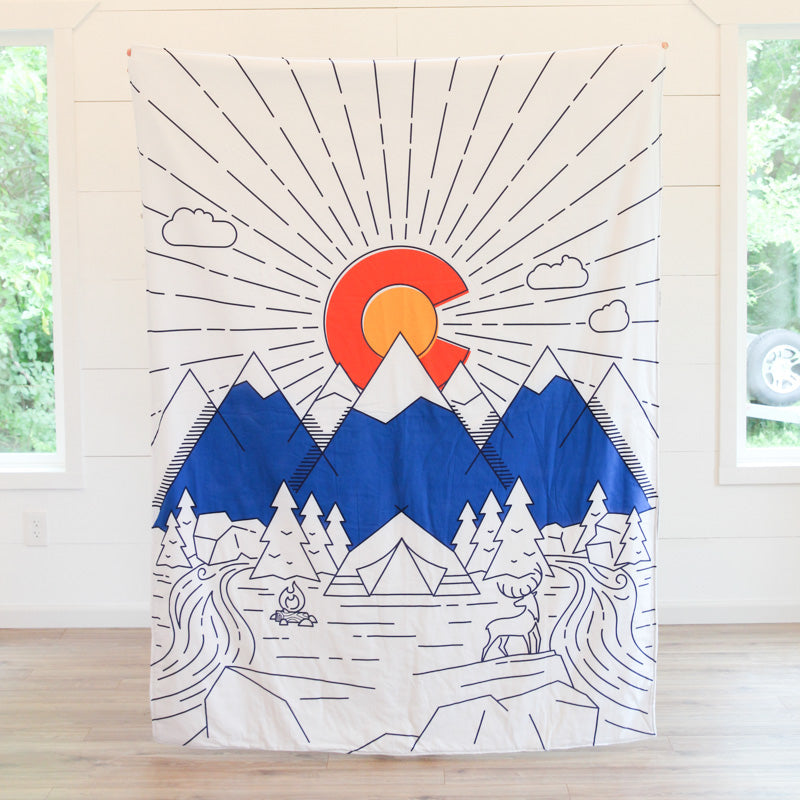 Colorado Flag Adult Cuddle Blanket