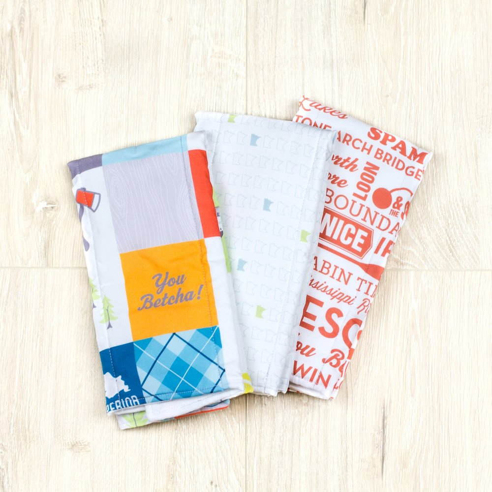 Minnesota Patchwork Burp Cloth Set