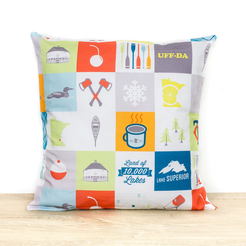 Minnesota Patchwork Pillow Cover