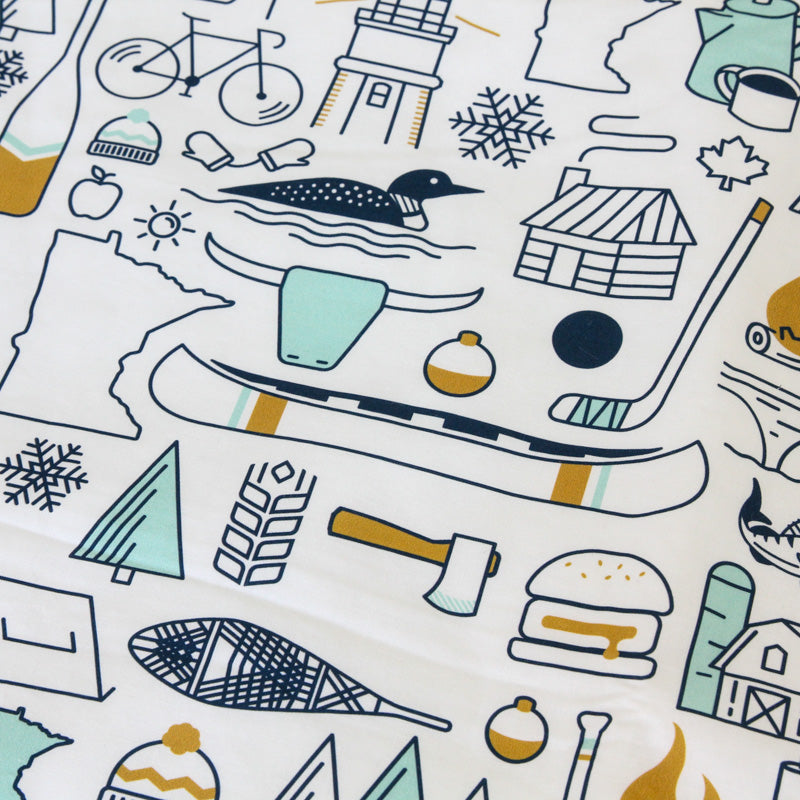 Minnesota Icons Cuddle Blanket