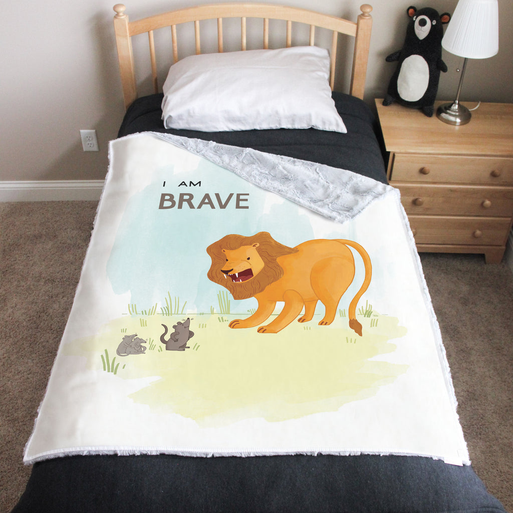 I Am Brave Empowerment Cuddle Blanket