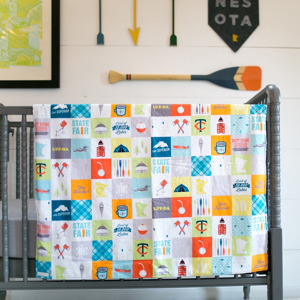 Minnesota Patchwork Cuddle Blanket