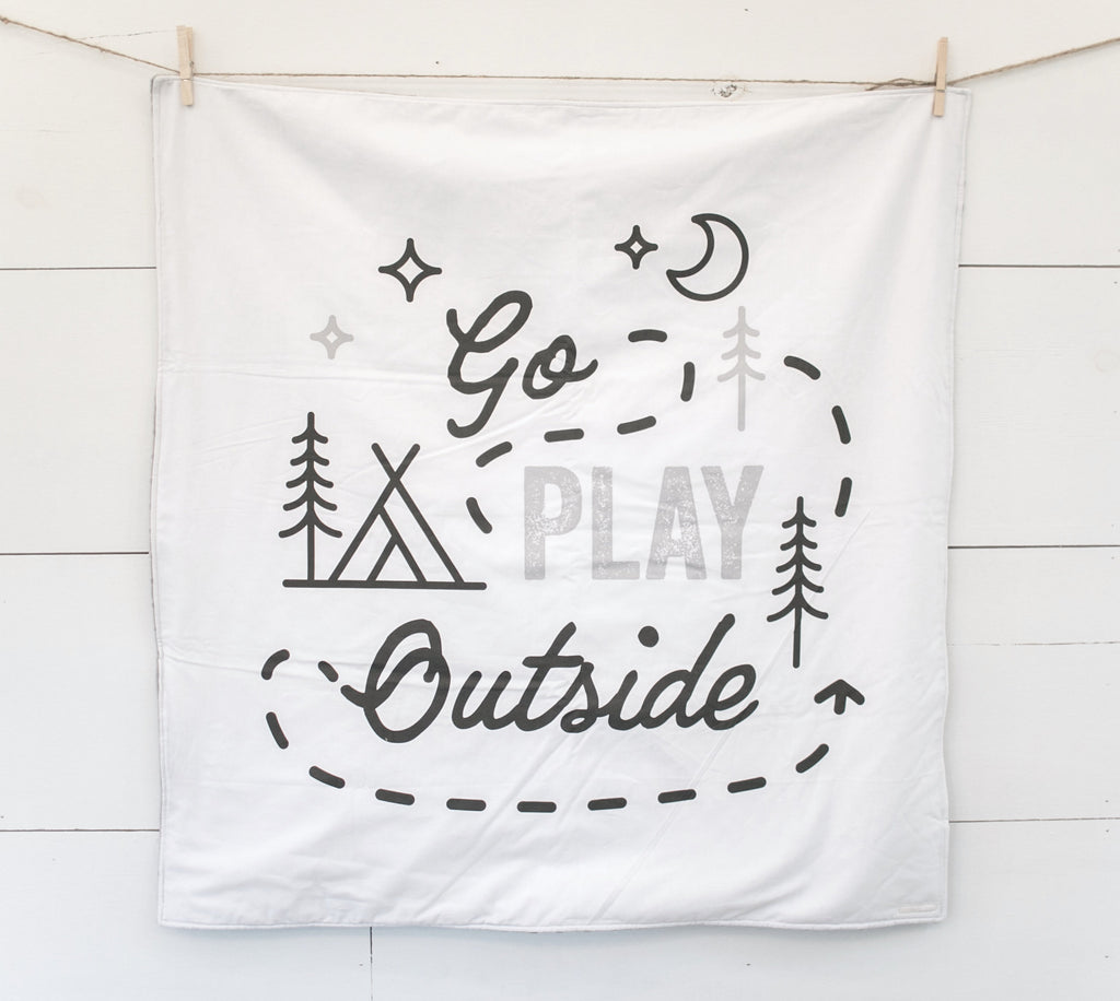 Fabric - abbey's house custom design - Go play outside panel