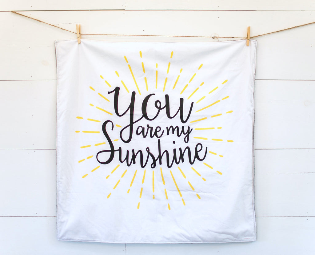 Fabric - abbey's house custom design - You are my sunshine panel