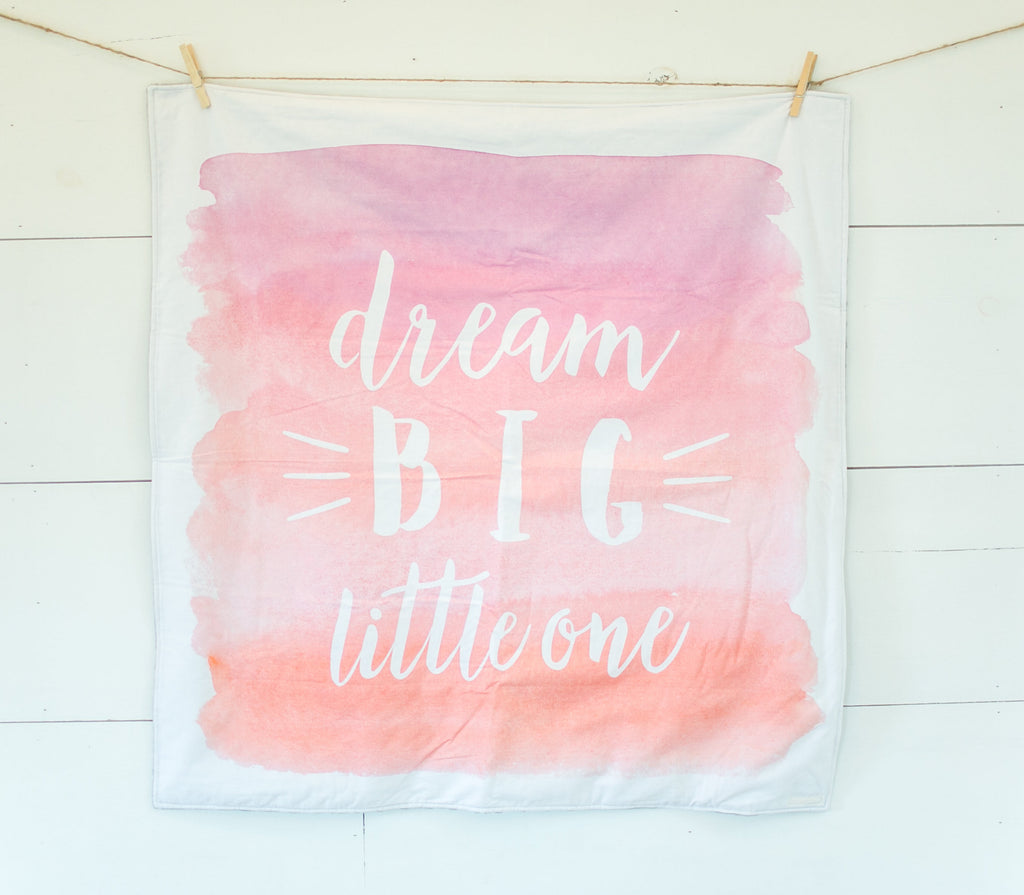 Fabric - abbey's house custom design - Dream big little one panel