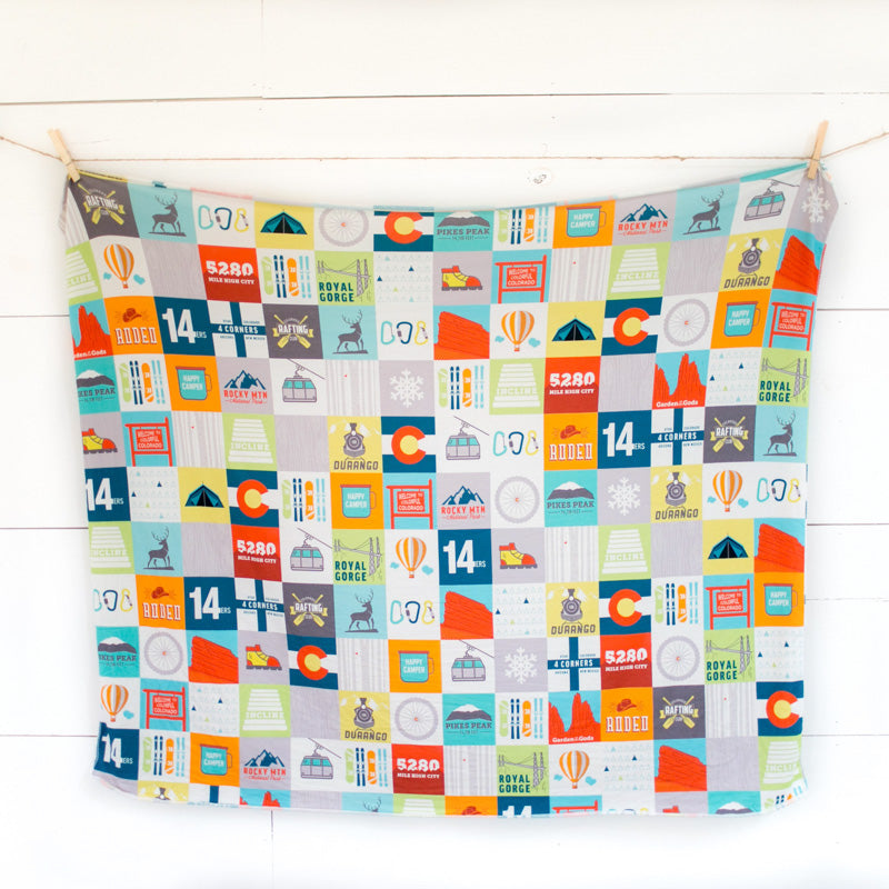 Colorado Patchwork Swaddle Blanket