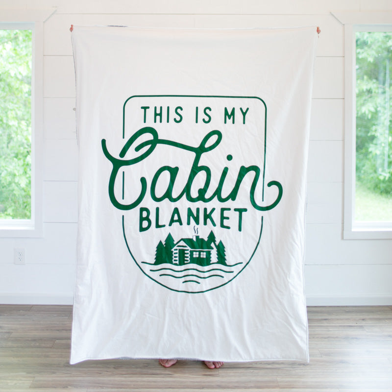 Cabin Adult Cuddle Blanket