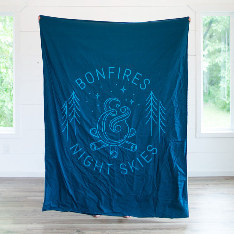 Blue Bonfires & Night Skies Adult Cuddle Blanket
