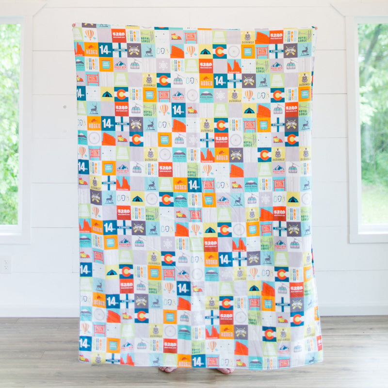 Colorado Patchwork Adult Cuddle Blanket