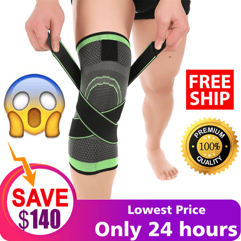 Knee Support Brace - Premium Recovery & Compression Sleeve For Meniscus Tear, ACL, MCL Running & Arthritis - Best Neoprene Stabilizer Wrap for Crossfit, Squats & Workouts - For Men & Women