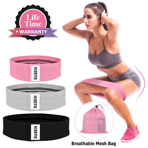 Resistance Bands for Legs and Butt, Fabric Exercise Bands Set Non-Slip Booty Bands, Hip Workouts, Pilates, Fitness and Strength Training, Resistance Loops Bands for Men & Women, 3 Packs - Pistong.com - Online Shopping for You