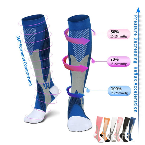 PISTONG Protective Shield™ Compression Socks for Women & Men Circulation 15-20 mmHg is Best Support for Athletic Running Cycling
