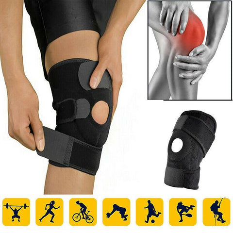 Knee Brace Support for Arthritis, ACL, LCL, MCL, Sports Exercise, Meniscus Tear Injury Recovery - Side Stabilizers Open Patella - Best Comfort Fit Adjustable Neoprene Wrap - 3 Sizes - Pistong.com - Online Shopping for You
