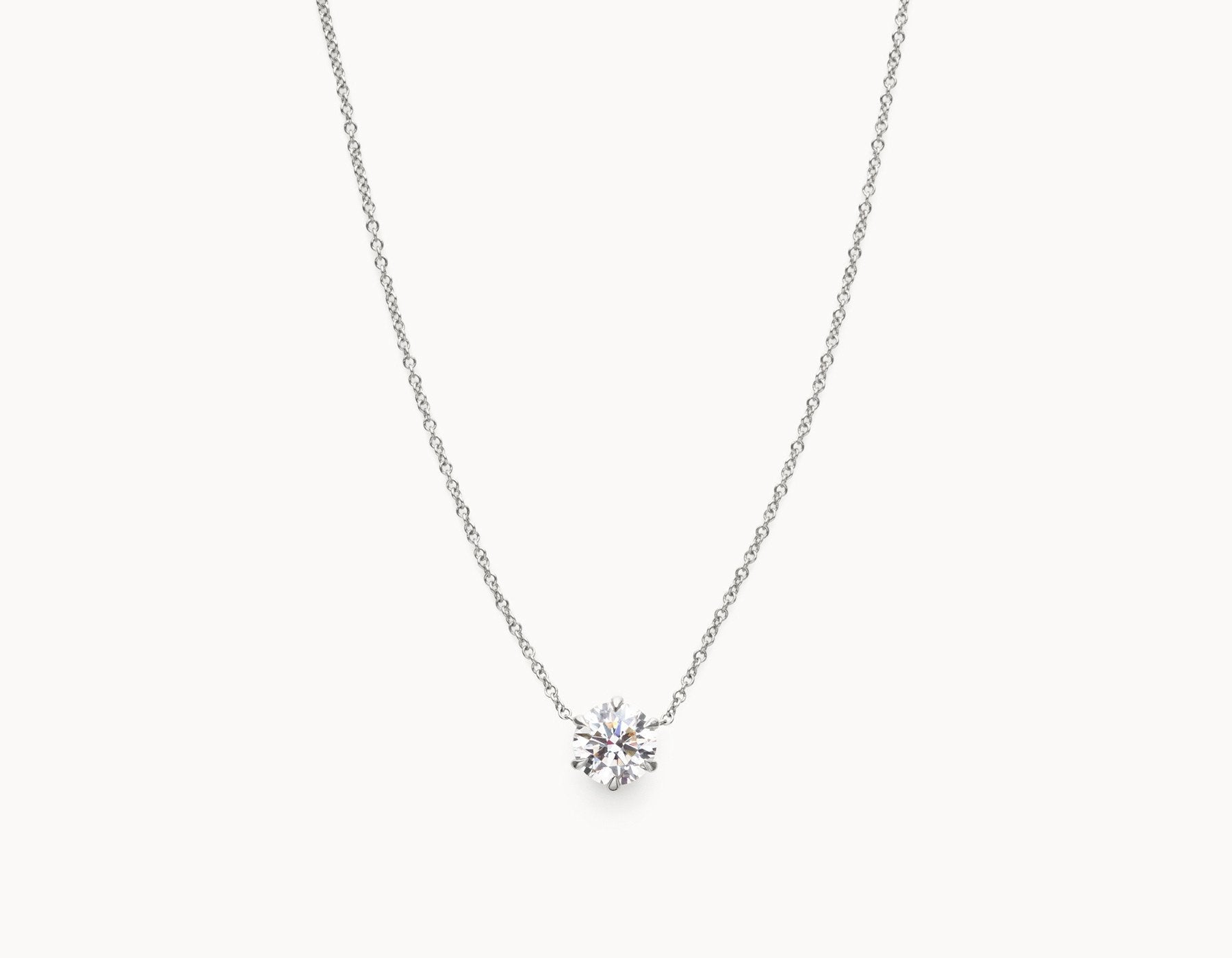 floating necklace product master diamond solitaire pendant gold white