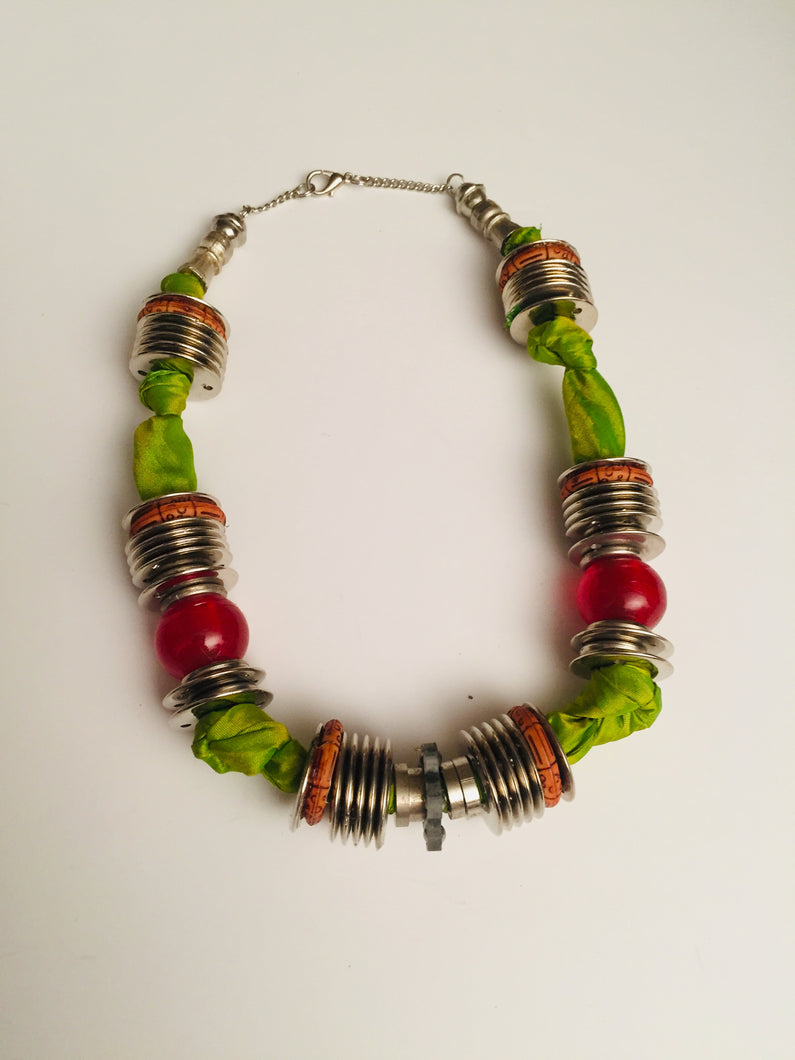 Green Anemone a boho casual necklace for women