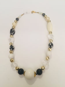 Black Tulip is Striking yet discreet with white and black beads