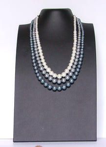 Margarita a stunning triple strung pearl necklace that is chunky and bold