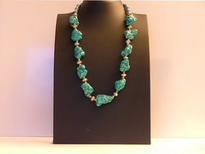 Trellium stunning handmade and  chunky turquoise necklace for women