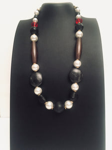 Stunning Black, white and gray necklace