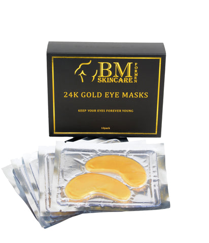 24K Gold Eye Masks: 10 Pair Pack