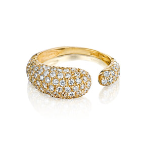 GOCCE COLLECTION WHITE DIAMONDS RING - GOLD
