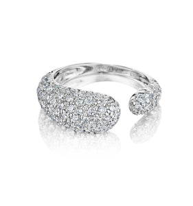 GOCCE COLLECTION WHITE DIAMONDS RING - 18KT WHITE GOLD