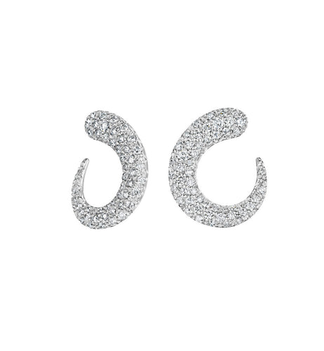 GOCCIOLINE COLLECTION WHITE DIAMONDS EARRINGS - 18KT WHITE GOLD