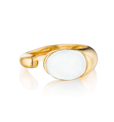 GOCCE COLLECTION RING WHITE