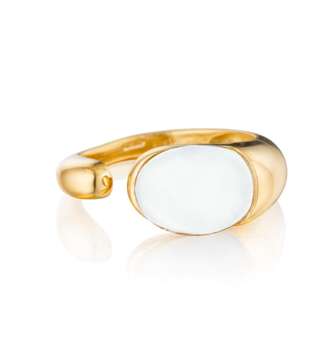 GOCCE COLLECTION RING - WHITE AGATE