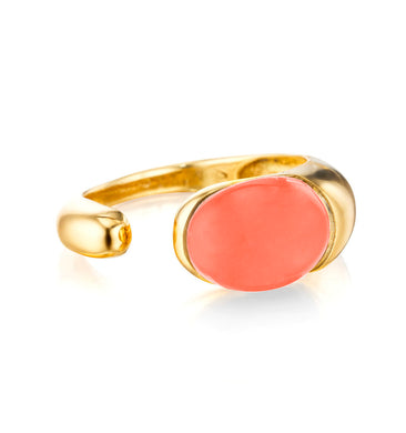 GOCCE COLLECTION RING - CORAL