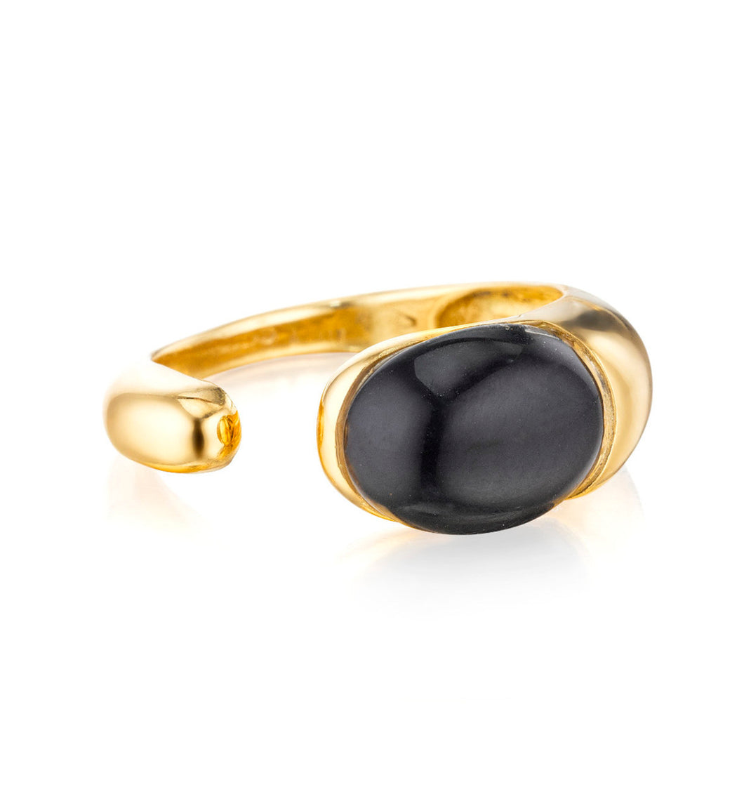 GOCCE COLLECTION RING - BLACK