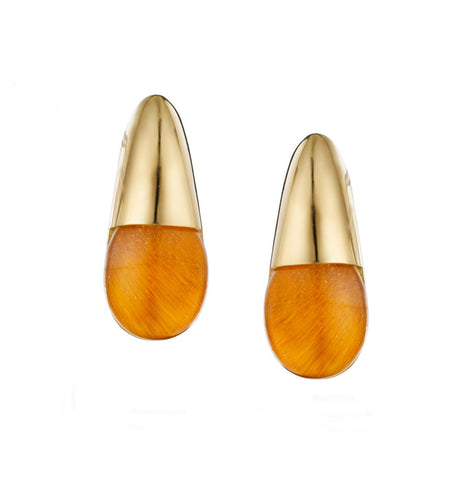 GOCCE COLLECTION EARRINGS - TIGER EYE