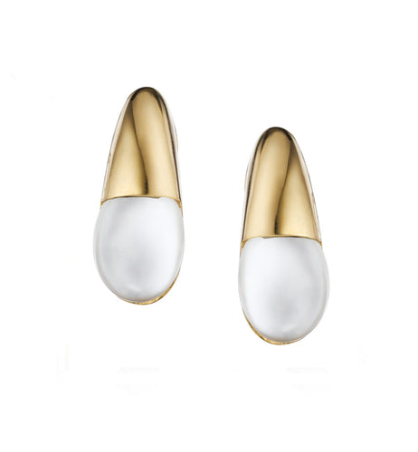 GOCCE COLLECTION EARRINGS - WHITE AGATE