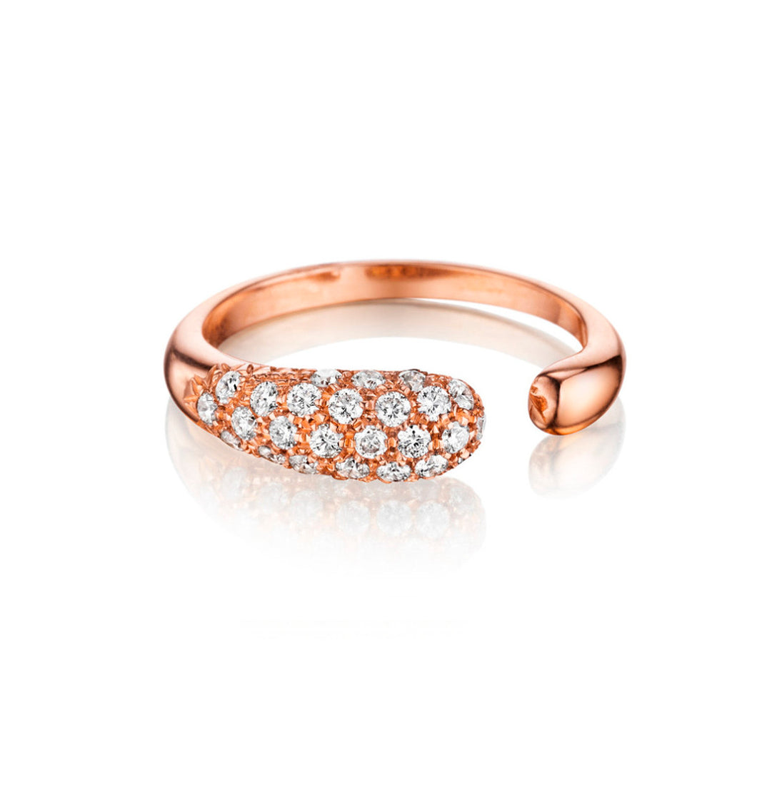 GOCCIOLINE COLLECTION WHITE DIAMONDS RING - ROSE GOLD