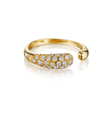 GOCCE COLLECTION WHITE DIAMONDS RING - 18KT GOLD - SMALL