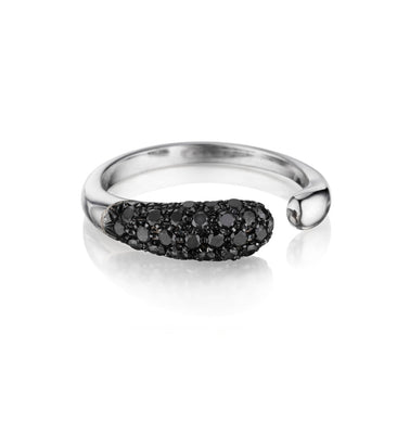 GOCCIOLINE COLLECTION BLACK DIAMONDS RING - WHITE GOLD