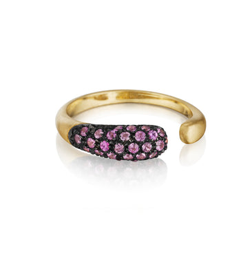 GOCCE COLLECTION PINK SAPPHIRES RING - 18KT GOLD - SMALL