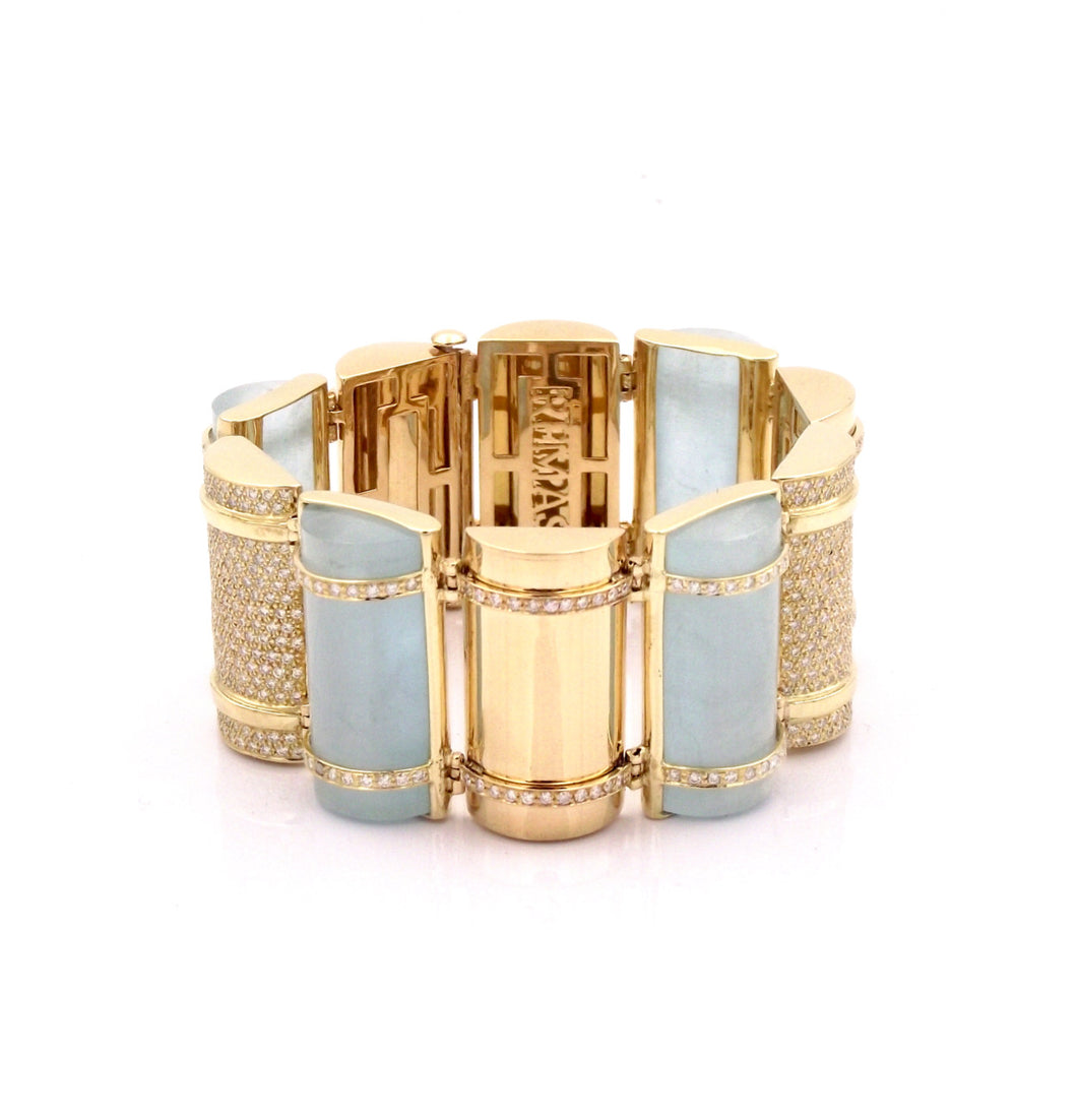 THE BULLET COLLECTION 18KT GOLD BRACELET - AQUAMARINE