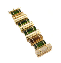 Load image into Gallery viewer, THE BULLET COLLECTION 18KT GOLD BRACELET - MULTISTONE