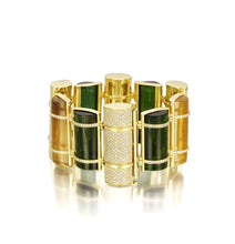 Load image into Gallery viewer, THE BULLET COLLECTION GOLD BRACELET - MULTISTONE