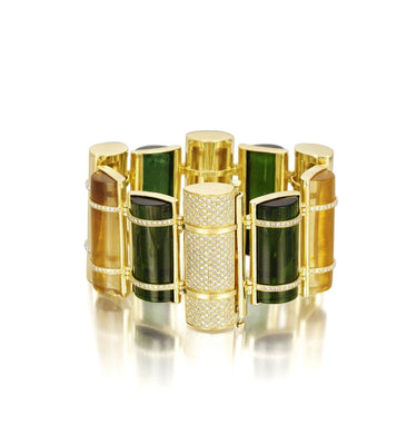 THE BULLET COLLECTION 18KT GOLD BRACELET - MULTISTONE