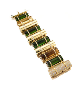 THE BULLET COLLECTION GOLD BRACELET - MULTISTONE