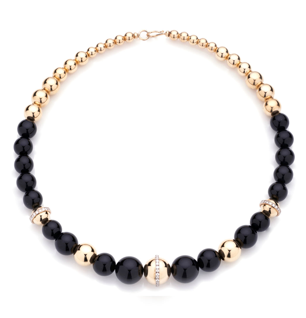 BARBARELLA COLLECTION NECKLACE - ONYX