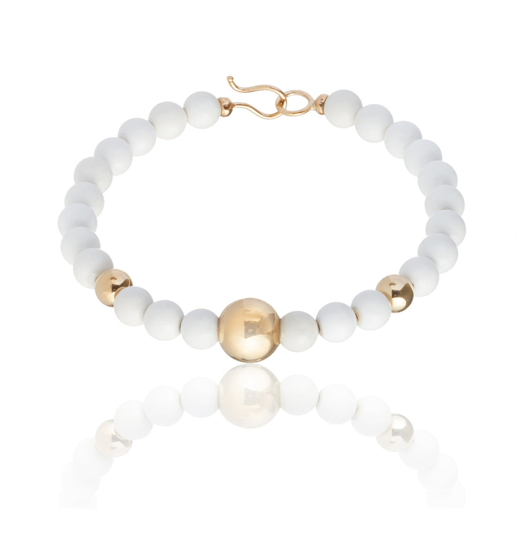 BARBARELLA COLLECTION BRACELET - WHITE AGATE