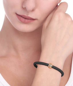 BARBARELLA COLLECTION BRACELET - BLACK LEATHER
