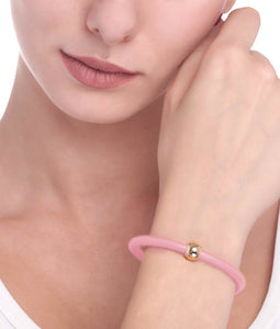BARBARELLA COLLECTION BRACELET - PINK LEATHER