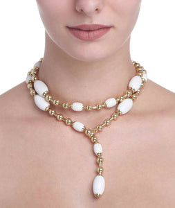 TUCA TUCA COLLECTION WHITE AGATE NECKLACE