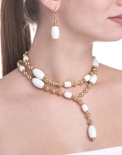 Load image into Gallery viewer, TUCA TUCA COLLECTION WHITE AGATE NECKLACE