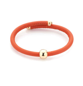 BARBARELLA COLLECTION BRACELET - ORANGE LEATHER