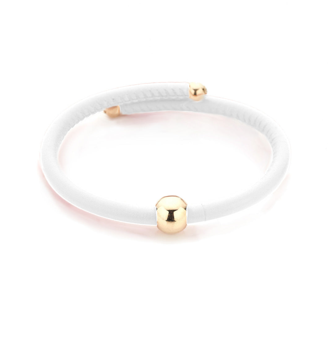 BARBARELLA COLLECTION BRACELET - WHITE LEATHER